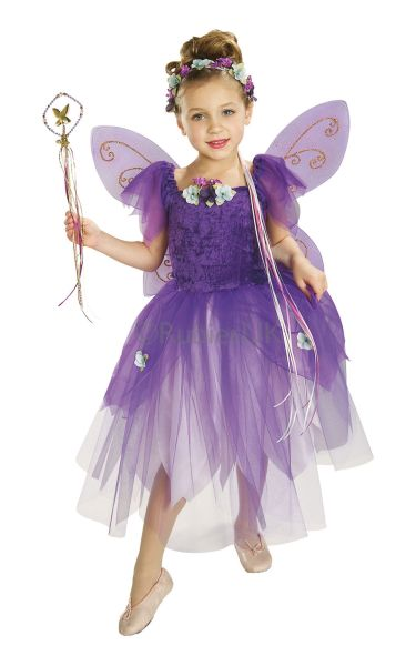 SALE-Kids-Plum-Pixie-Fairy-Princess-Girls-Fancy-Dress-Costume-Party-Outfit