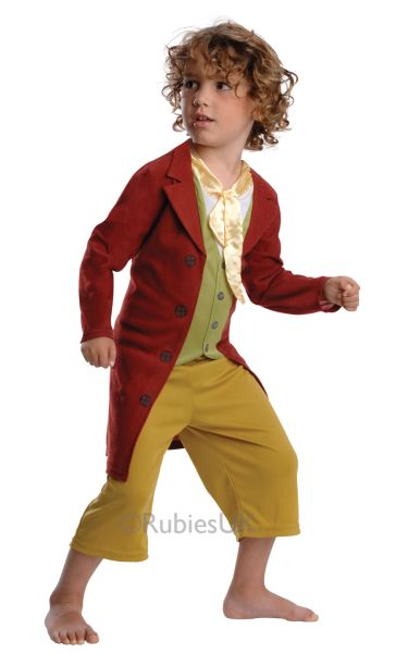 Kids Lord Of The Rings Bilbo Baggins Hobbit Boys Book Week Fancy Dress Costume