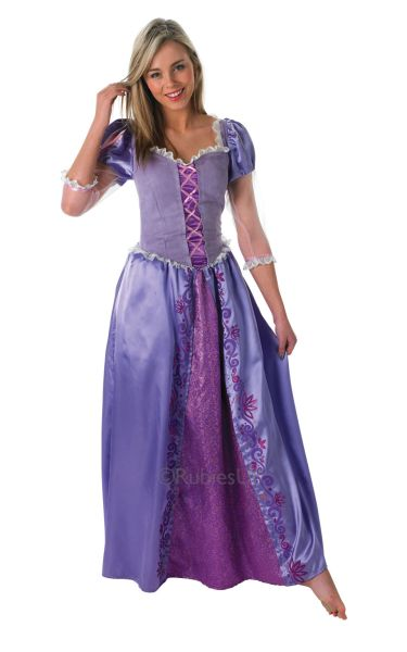 Adult Disney Fairtale Princess Rapunzel Ladies Fancy Dress Costume Party Outfit