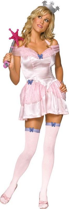 Adult-Sexy-Wizard-Of-Oz-Glinda-Witch-Ladies-Halloween-Party-Fancy-Dress-Costume