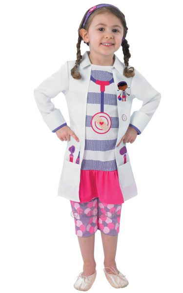 SALE-Kids-Disney-Doc-Mcstuffins-Girls-Fancy-Dress-Costume-Party-Dress-Up-Outfit