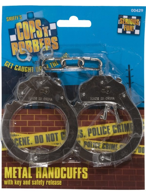Smiffys Metal handcuffs with keys