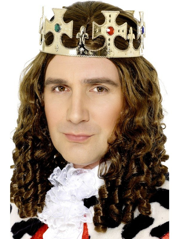 SALE! Royal Kings Gold Crown Mens Fancy Dress Costume Party Accessory
