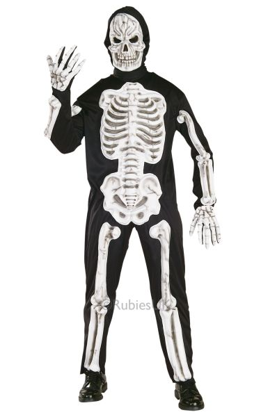 Eva Skeleton Fancy Dress Costume