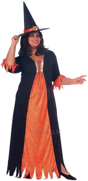 Plus Size Gothic Witch Fancy Dress Costume