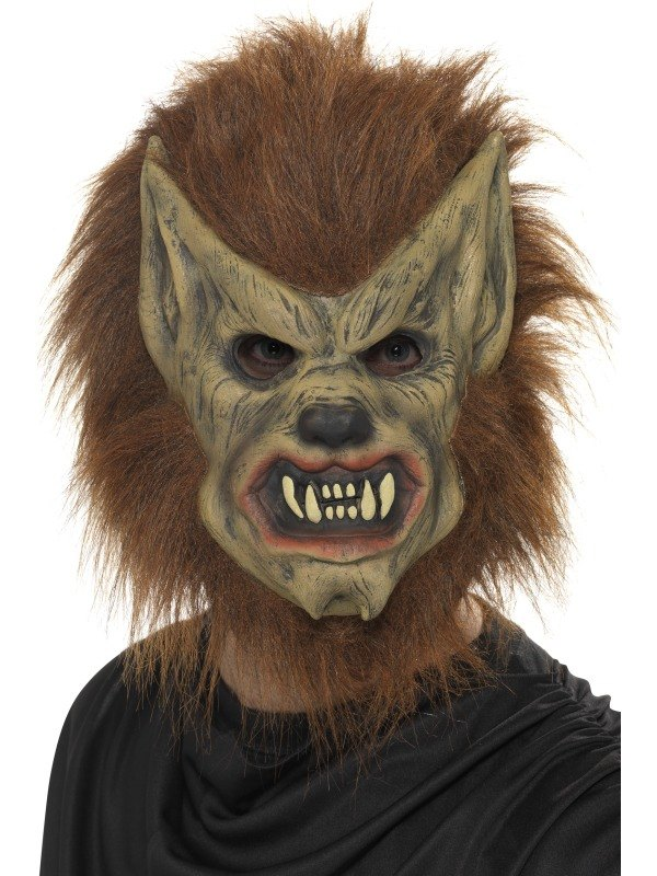 Brown Werewolf Fancy Dress Mask