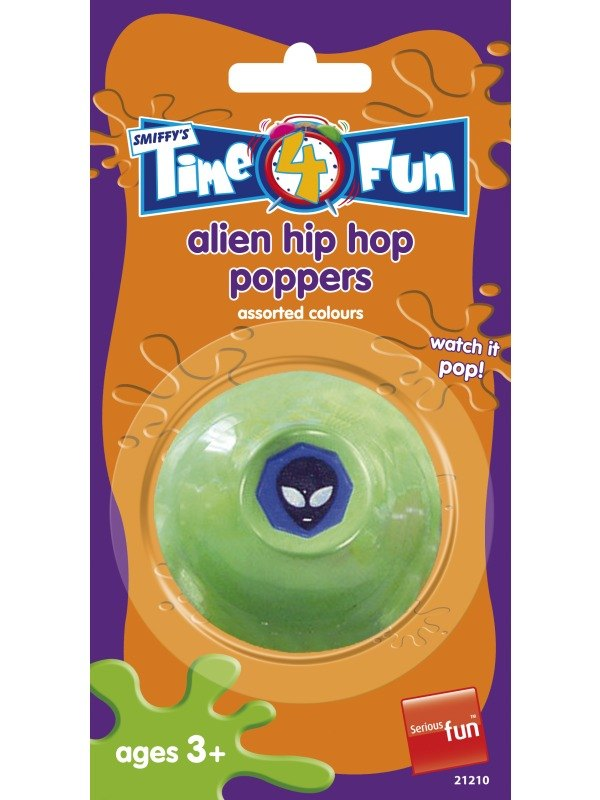 Alien Style Hip Hop Poppers, Assorted Colours