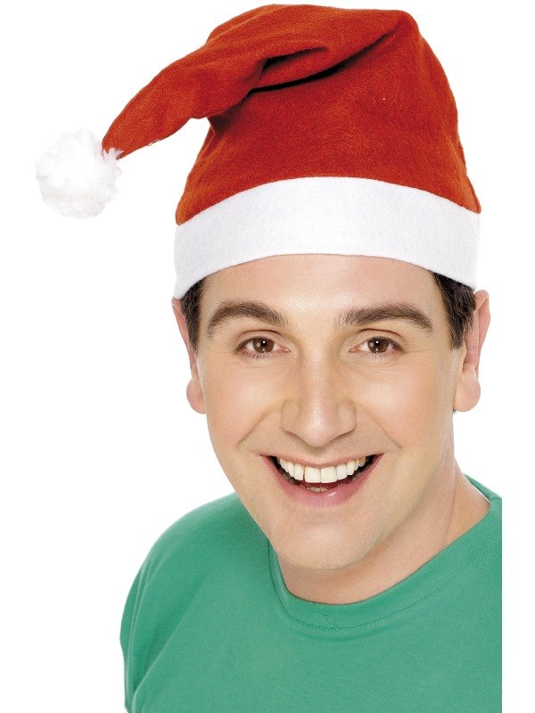 Santa Fancy Dress Hat with Pom Pom