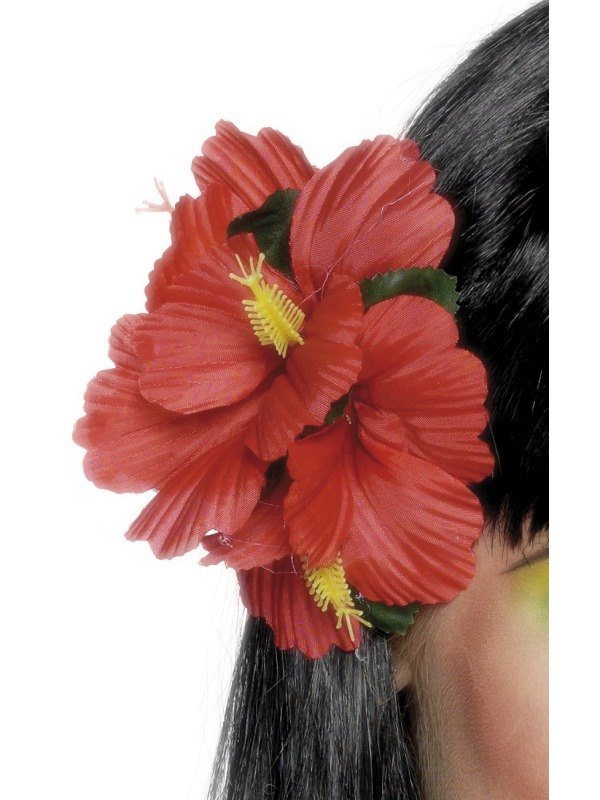 Hawaiian Flower Clip Red