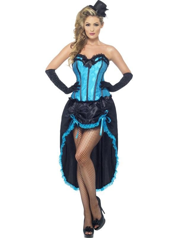 Burlesque Dancer Costume Blue