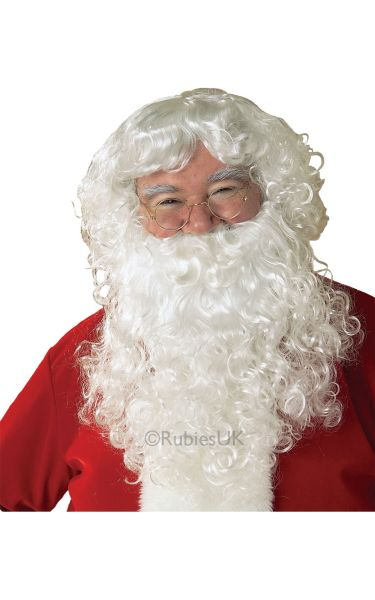 Economy Santa Beard and Fancy Dress Wig Set