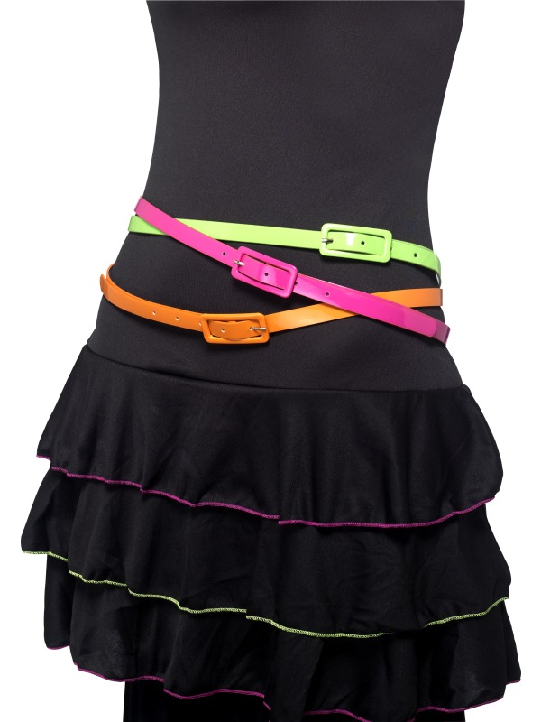 Neon Belts, Multipack of 3