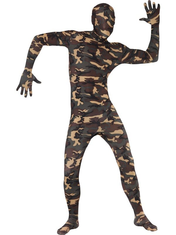 Second Skin Suit Camouflage Fancy Dress Costume