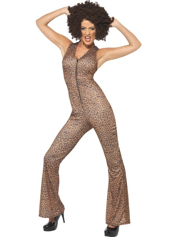 Scary Power 1990s Icon Fancy Dress Costume Leopard Print