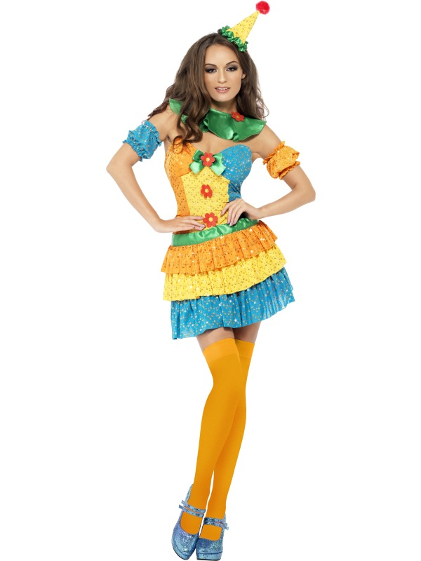 Fever Colourful Clown Cutie Costume
