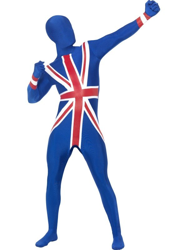 Second Skin Fancy Dress Costume, Union Jack