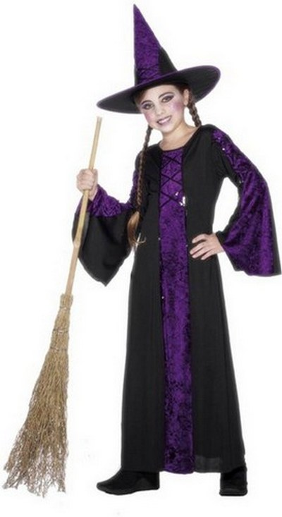 Bewitched Fancy Dress Costume Purple and Black