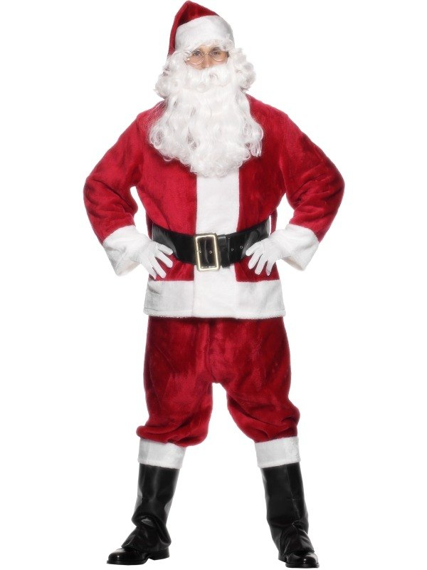Deluxe Santa Suit Fancy Dress Costume