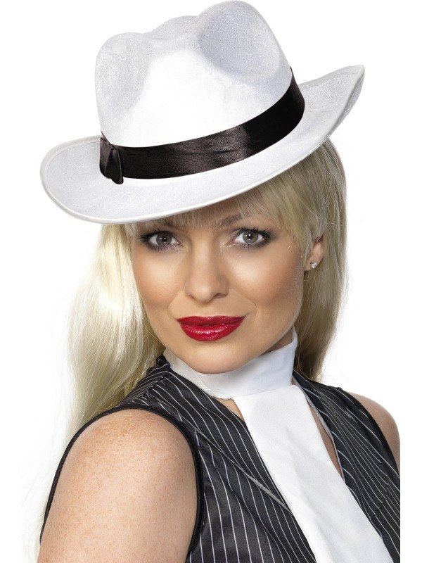 Gangster Fancy Dress Hat White