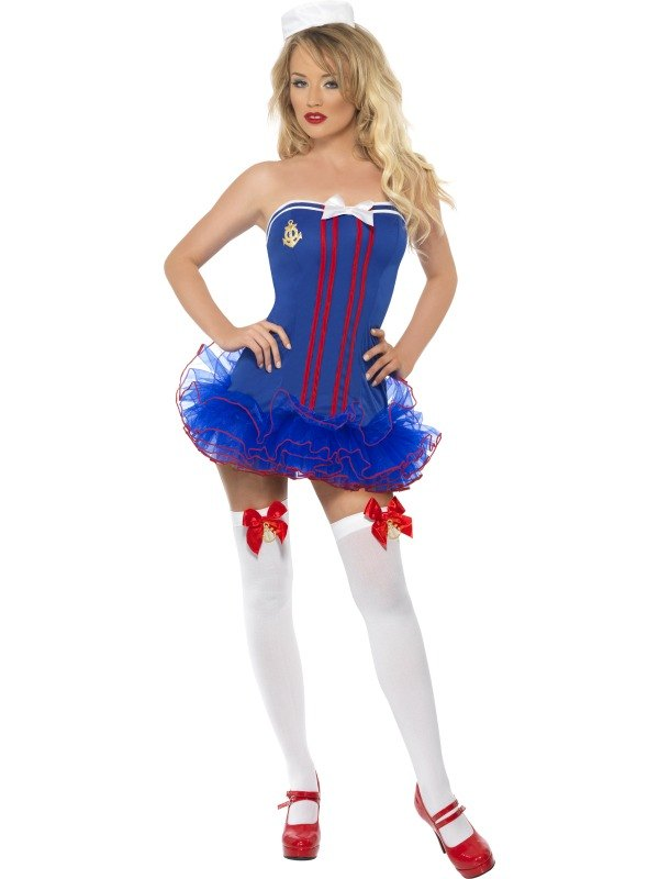 Tutu Sailor Fancy Dress Costume