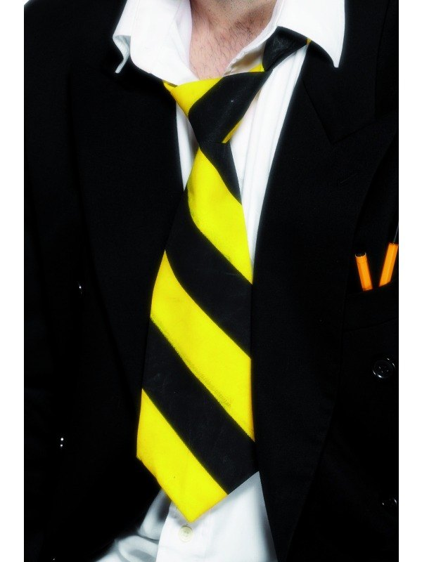 School Tie Yellow and Black