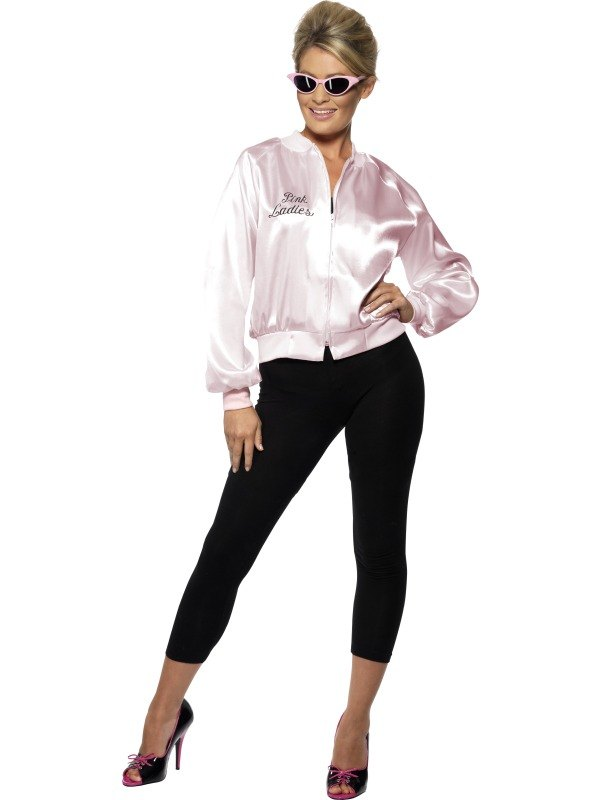 Pink Lady Jacket Fancy Dress Costume For Grease