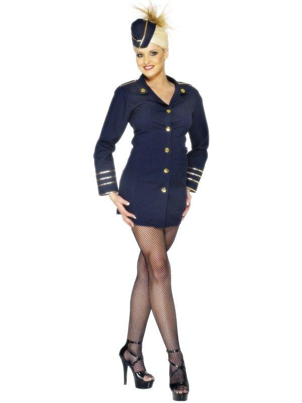 Flight Attendant Fancy Dress Costume