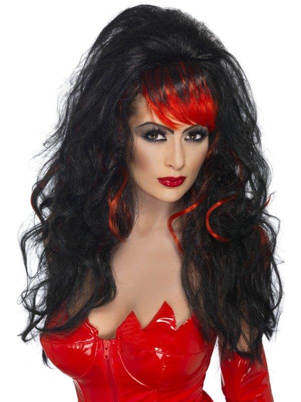 Seductress Fancy Dress Wig Black