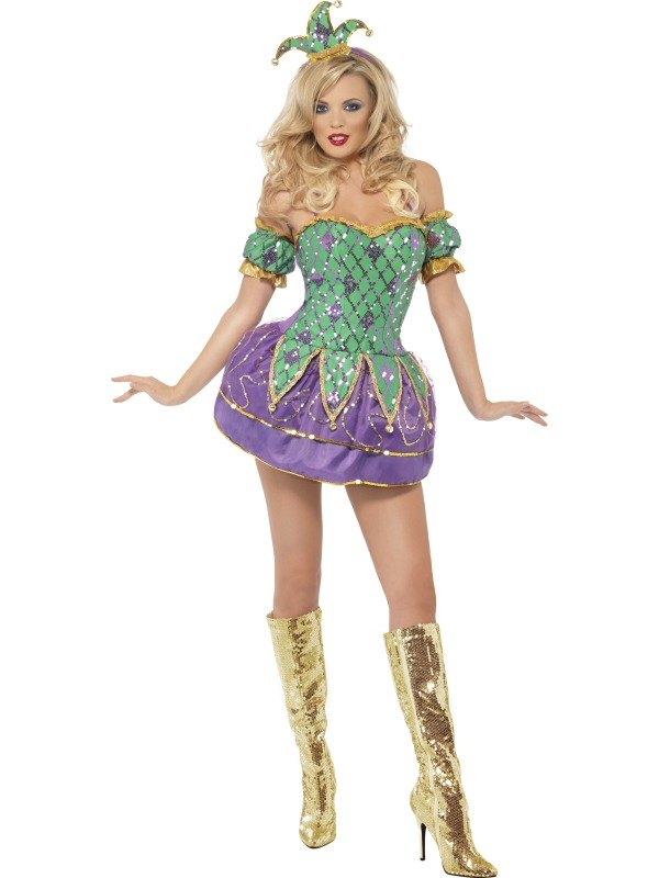 Harlequin Shine Fancy Dress Costume
