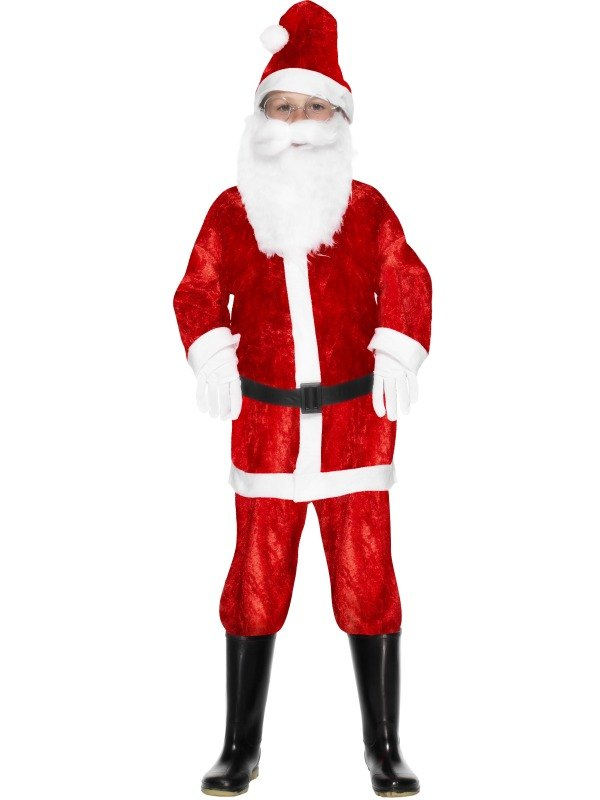Boys Mini Santa Fancy Dress Costume