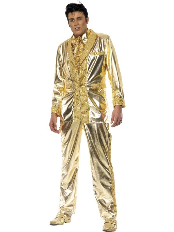 Elvis Gold Fancy Dress Costume