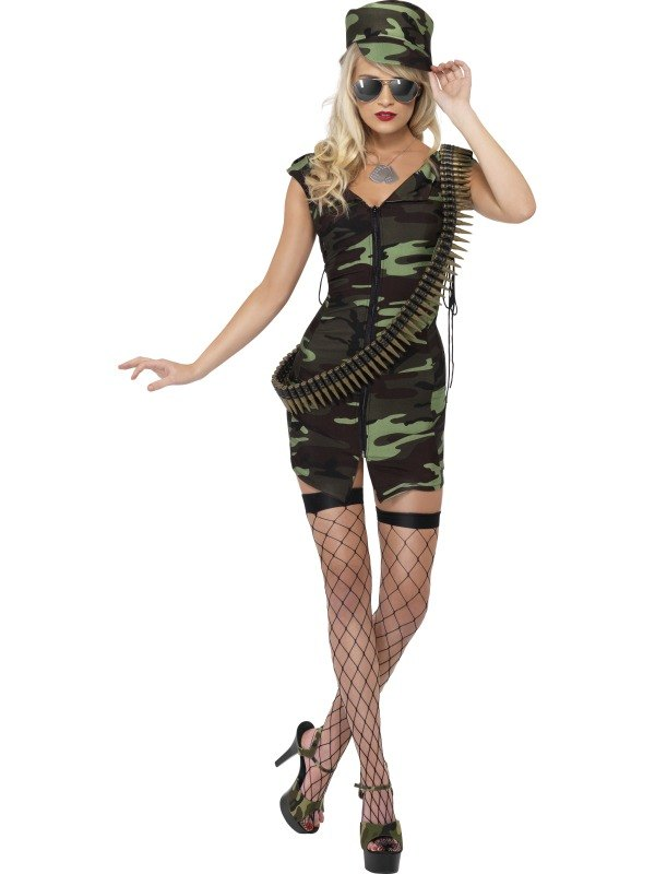 Combat Lady Fancy Dress Costume