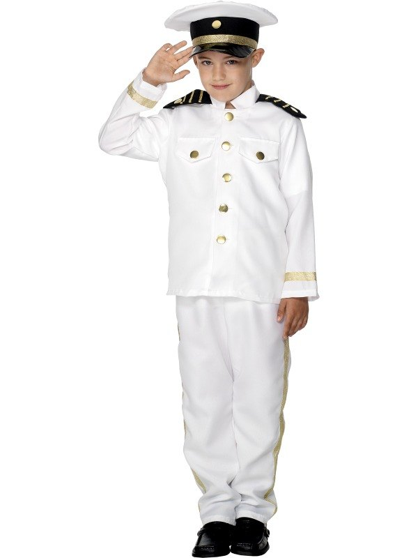 Boys Captains Fancy Dress Costume