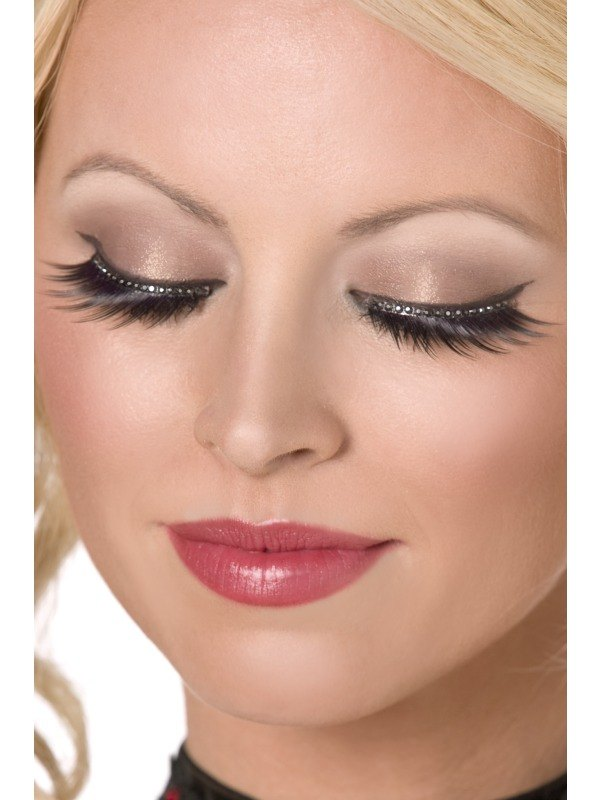 Eyelashes Glamour with Crystals