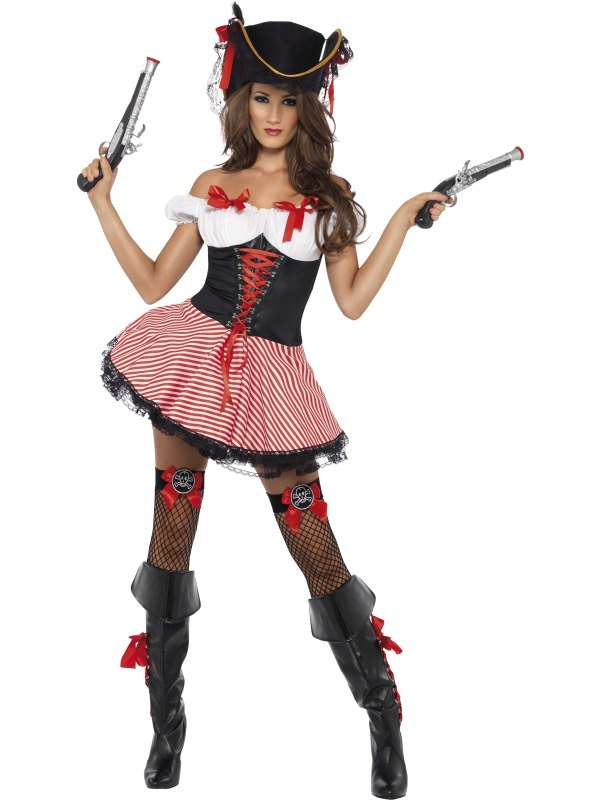 Ladies Pirate Fancy Dress Costume