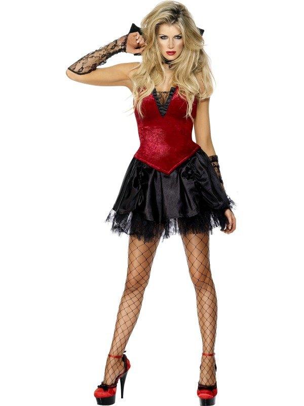 Vixen Vamp Fancy Dress Costume