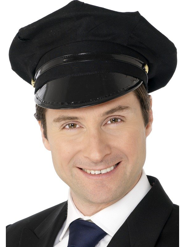 Chauffeur Fancy Dress Hat Black Adult