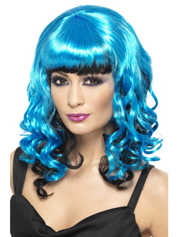 Blue and BlackAngel Fancy Dress Wig