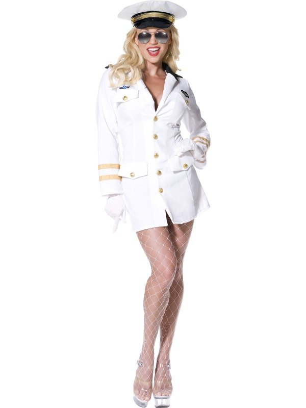 Top Gun Officer Fancy Dress Costume