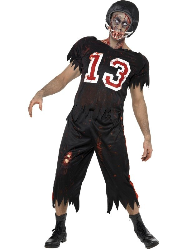 Zombie American Footballer Fancy Dress Costume