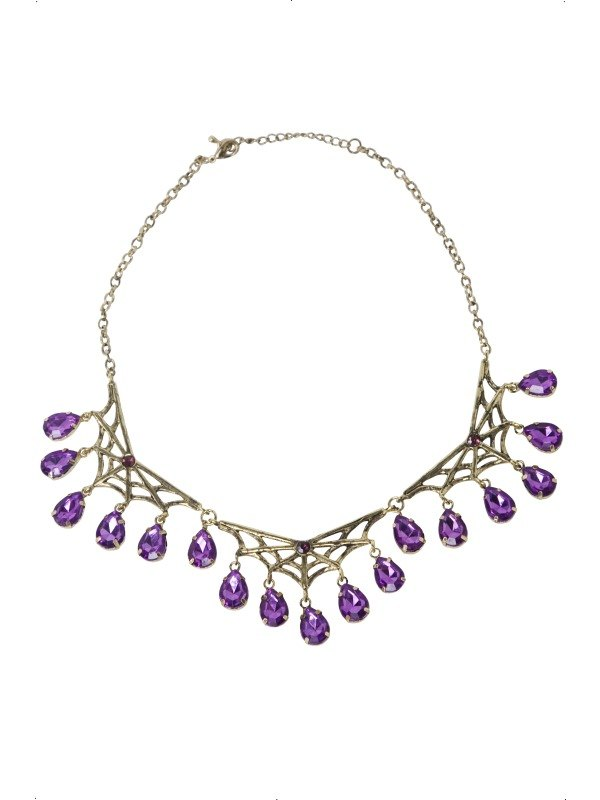 Gothic Spiderweb Necklace