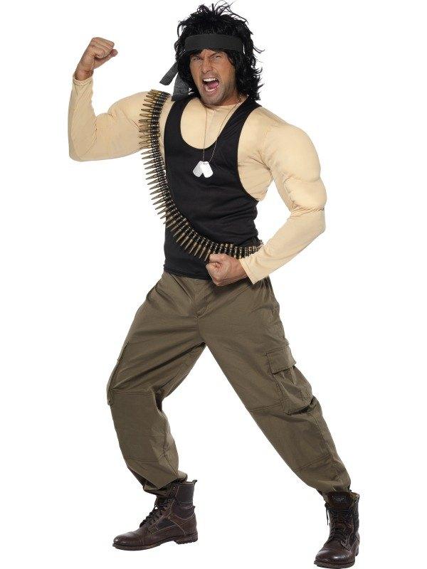 Rambo Fancy Dress Costume
