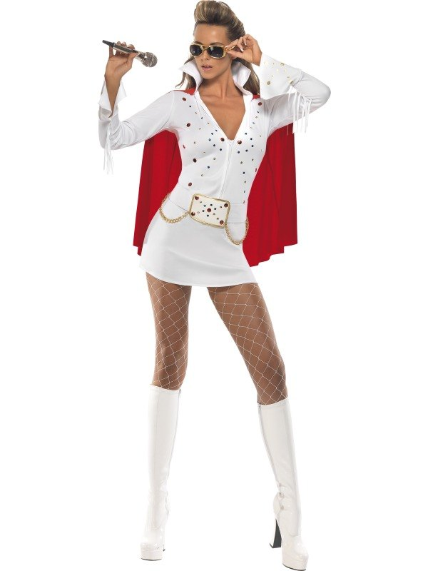 Viva Las Vegas Fancy Dress Costume White