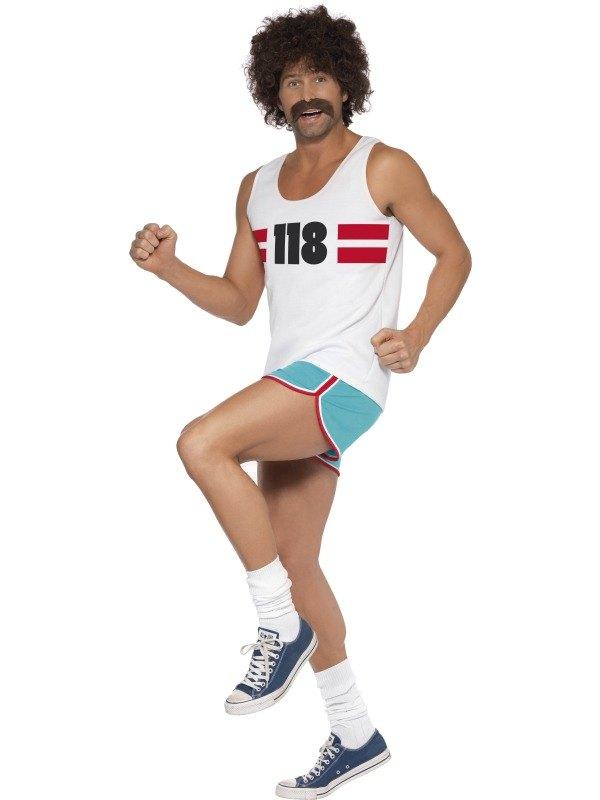 118118 Male Runner Fancy Dress Costume