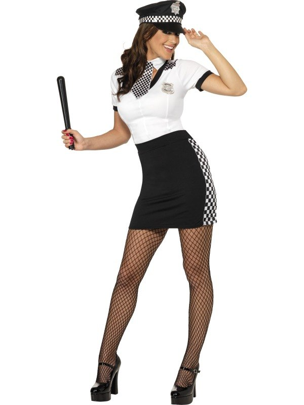 Ladies Cop Fancy Dress Costume