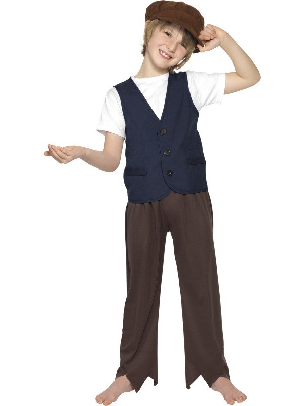 Victorian Poor Peasent Boy Fancy Dress Costume