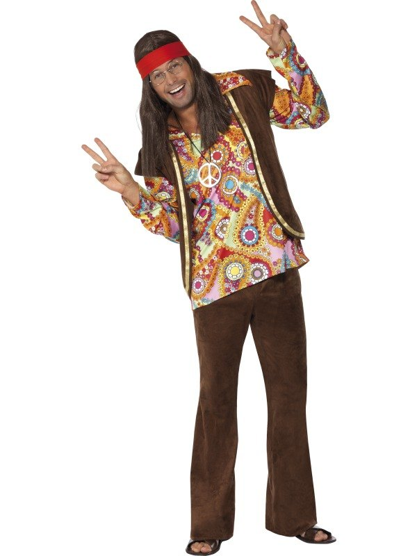 Psychedelic 1960S Hippie Fancy Dress Costume