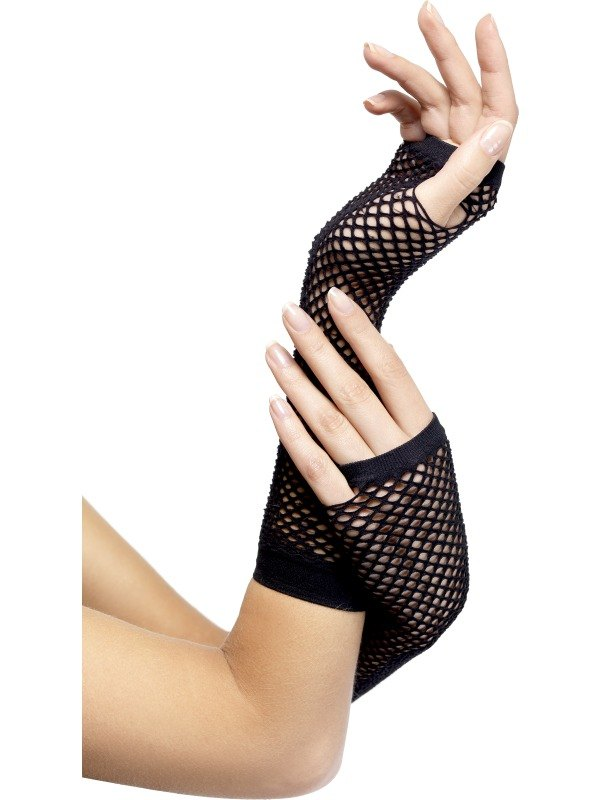Fishnet Gloves Black