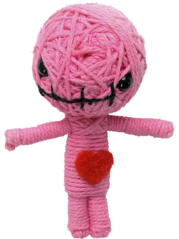 Voodoo String Doll Charm, Pink Love Zulu Doll