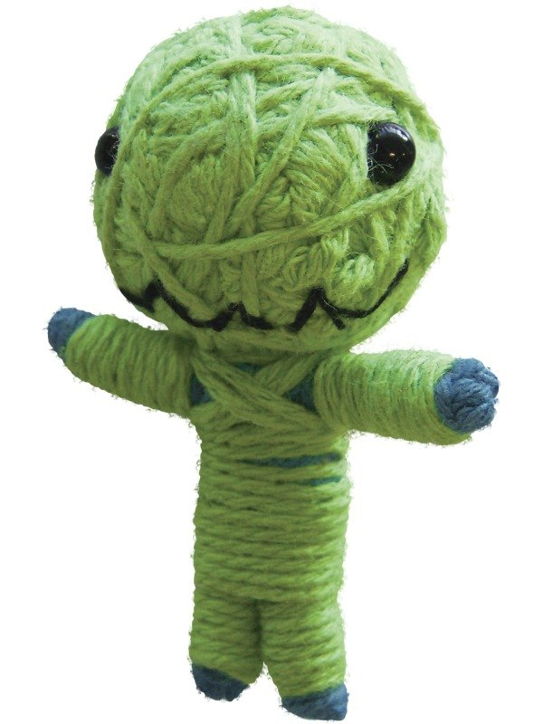 Voodoo String Doll Charm, Little Green Monster